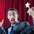 Businessman awarded with star award — Stock Photo #7968698