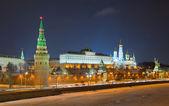 Vue de la nuit du kremlin de Moscou, Russie — Photo