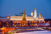 Famous view of Moscow Kremlin — Foto de Stock