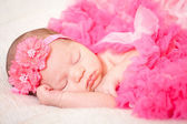 Sleeping newborn baby — Stock Photo