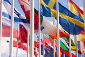 National flags of different country — Stock Photo