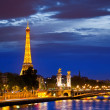 Stock Photo: Alexander Third bridge is popular touristic site in Paris.
