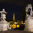 Night illumination on the bridge of Alexander III. Paris, France — Stock Photo
