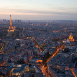 Night Paris. France. Top view. - Stock Photo