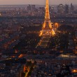 Stock Photo: Night Paris. France. Top view.