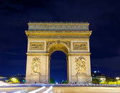 Arch of Triumph at night, Paris, France — Stok fotoğraf