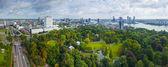 Pohled na město rotterdam — Stock fotografie