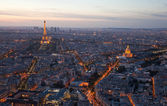 Night Paris. France. Top view. — Stock Photo