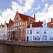 View of canal and houses at Bruges, Belgium — Stock Photo