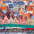 Stock Photo: Aerial View of Bruges