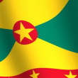 viftande flagga grenada — Stockvideo #19001003