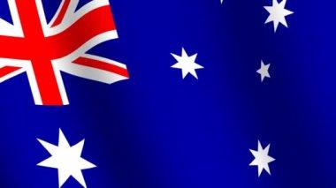 Waving flag of Australia — Stock Video