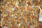 Coins of the different countries — Stock Photo