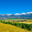 Rural landscape under clear sky, Slovakia — Stock Photo