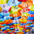 Street decorated with colored umbrellas. — Stock Photo #32928893