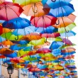 Street decorated with colored umbrellas. — Stock Photo #32928895
