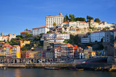 Portugal. Porto city. View of Douro river embankment — Stock Photo