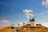 Ypical windmills of Region of Castilla la Mancha — Stock Photo
