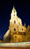 Saint Nicholas Cathedral, Lesser Town, Prague — Stock Photo