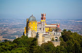 Panorama of Pena National Palace in Sintra, Portugal. Europe — Stock Photo
