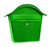 Green post box — Stock Photo