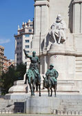 Cervantes Monument in Madrid, Spain — Stock Photo