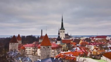 Tallinn Old Town, Estonia — Stock Video