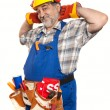 Stock Photo: Portrait of handyman