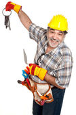 Portrait of smiling worker — Stock Photo