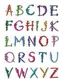 Button alphabet — Vector de stock