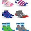 Collection of socks — Stock Vector