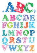Decorative colorful alphabet — Stock Vector