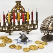 Hanukkah menorah with  candles — Stock Photo #14131639