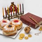 Hanukkah menorah with  candles — Stock Photo #14131693