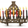 Hanukkah menorah with candles — Stock Photo #14131701