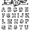Sketch Alphabet — Vector de stock #15702817