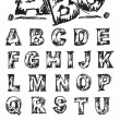Vector de stock : Sketch Alphabet