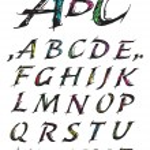 Sketch Alphabet — Stock Vector