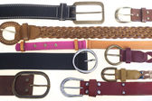Collection of belts — Stock Photo