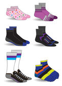 Collection of socks — Vecteur