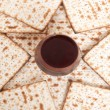 Matza bread for passover celebration — Stock Photo #20097239