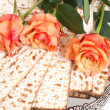 Matza bread for passover celebration — Stock Photo #20097339