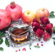 Honey with apple for Rosh Hashana jewish new year — Stock Photo #27587671