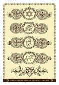 Hand drawn jewish design elements — Stock Vector