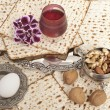 Stock Photo: Matzbread for passover celebration