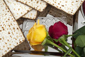 Matza bread for passover celebration — Foto de Stock