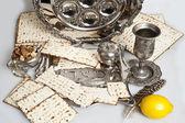 Matza bread for passover celebration — Стоковое фото