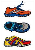 Illustration de chaussures de sport — Vecteur