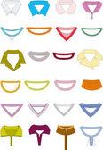 Collars — Stock Vector
