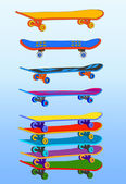 Set of skateboards — Stock Vector